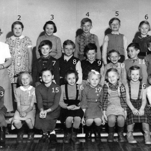1952 Skolklass i Tväråselet