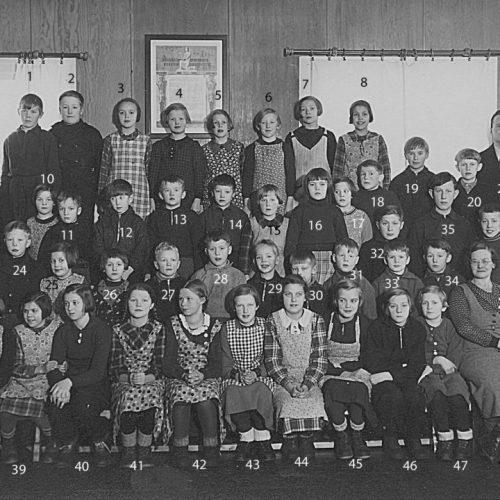 1938 klass 1-6 Tväråselets skola