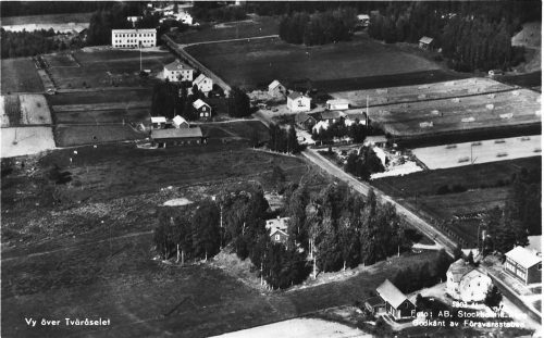 Flygbild över Tväråselet