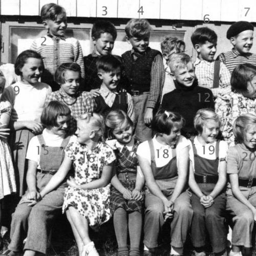 1954 Skolklass i Tväråselet