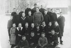 Skolklass Övre Tväråsel ca 1920