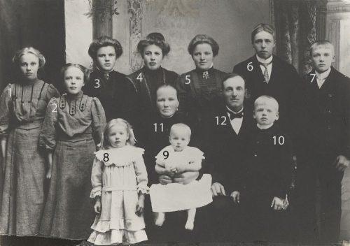 Familjen August Johansson och Johanna Bergman Småträsk