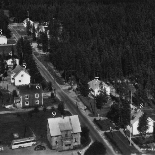 Flygfoto över Vidsel 1957