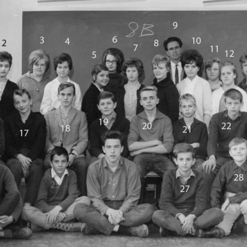 Klass 8 b i Vidsel 1963