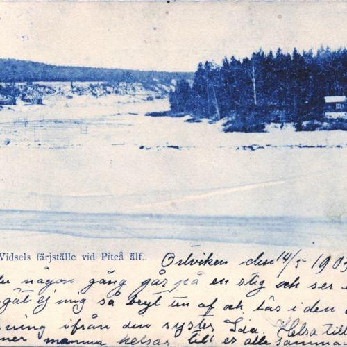Parti sedt från Vidsels färjställe vid Piteå älf
