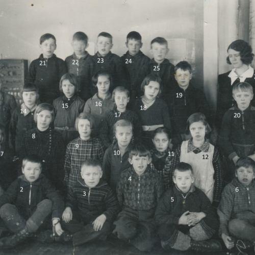 Skolklass Vidsel ca 1934