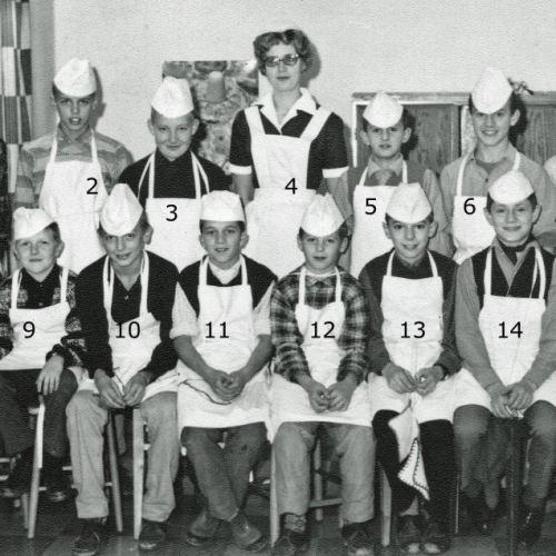 1961 Skolköks kurs för pojkar i Vidsel