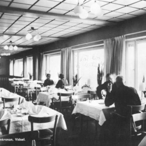 Värdshuset Renkronans matsal i Vidsel.