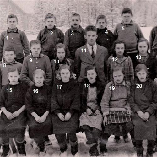 Klass i Vidsel ca 1923