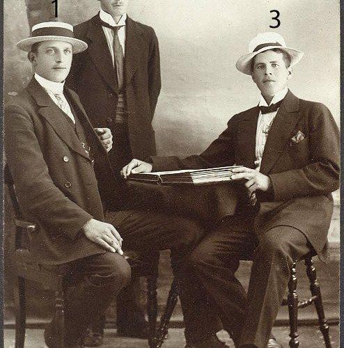 Tre unga okända herrar