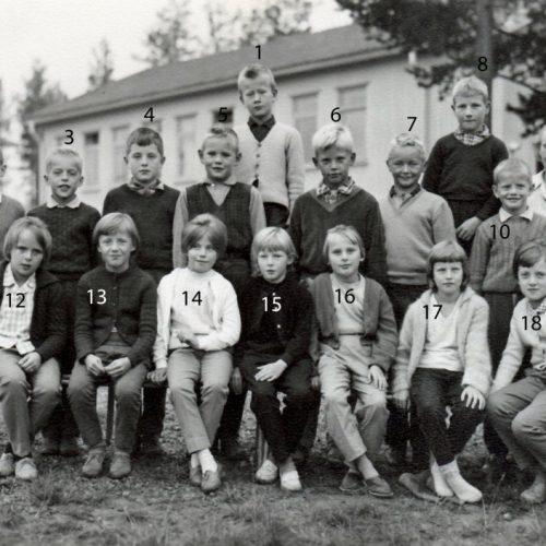 1960 skolklass i Vistbäcken