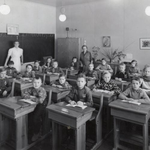 1955 skolan i Vistbäcken