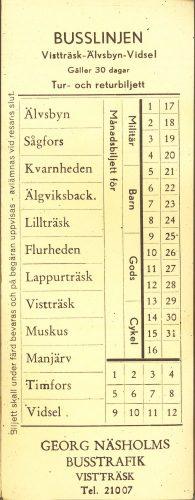 Bussbiljett Näsholms Trafik