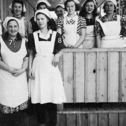 1944 skolkökskurs i Mejeriet Vistträsk