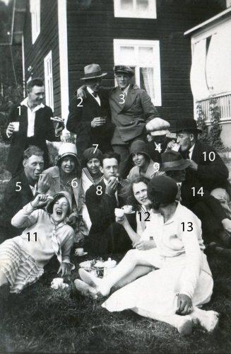 Vistträsk ungdomar, bild från 1930 talet