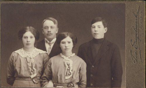 Adina, Ebba, Ragnar Bergman samt Nils Algot Sundin