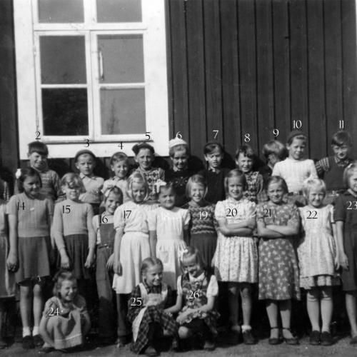 1951-1952 klass 3 och 4 Visthedens skola