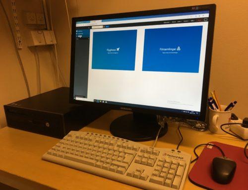 Nya datorer i forskargrottan.